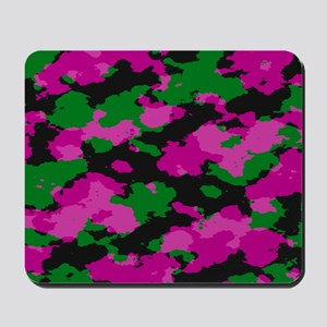 Pink Camouflage print Mousepad