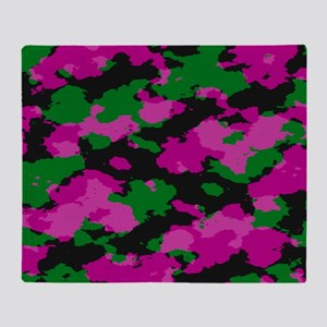 Pink Camouflage print Throw Blanket