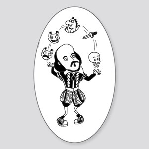 Complete Works of William Shakespea Sticker (Oval)