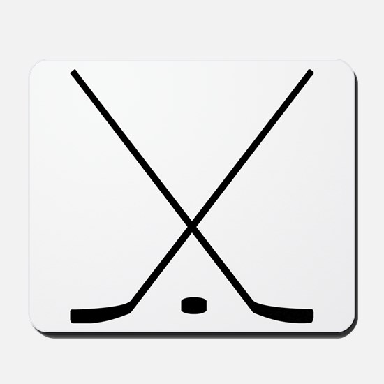 Hockey Sticks And Puck Mousepad