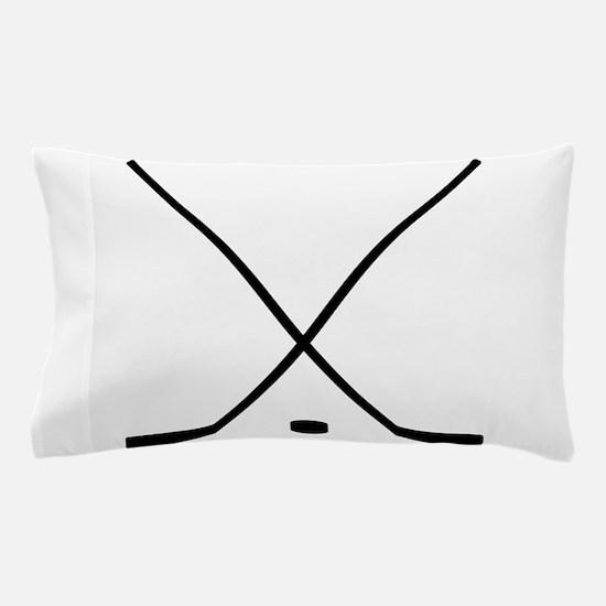 Hockey Sticks And Puck Pillow Case