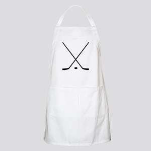 Hockey Sticks And Puck Apron