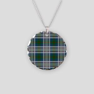Kennedy Dress Tartan Plaid Necklace Circle Charm