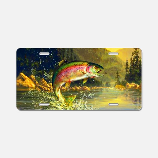 Trout 8x4 Aluminum License Plate