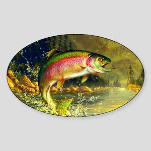 Trout 8x4 Sticker (Oval)