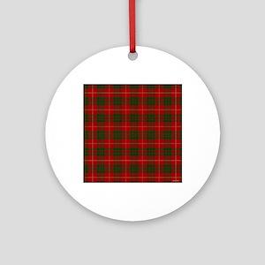MacGregor Tartan Round Ornament