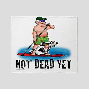 Paddle Board Grampy Throw Blanket