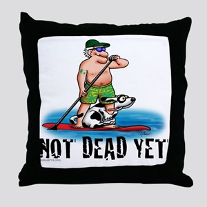 Paddle Board Grampy Throw Pillow