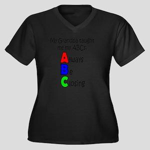 Always Be Cl Women's Plus Size Dark V-Neck T-Shirt