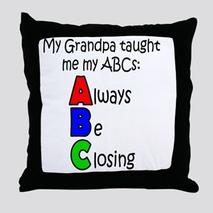 Always Be Closing - Grandpa Throw Pillow