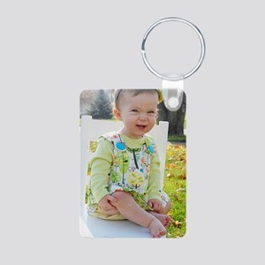 hadley Aluminum Photo Keychain