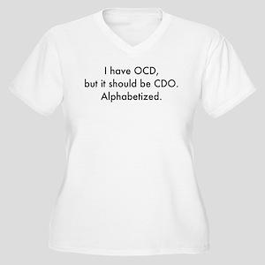 OCD Women's Plus Size V-Neck T-Shirt