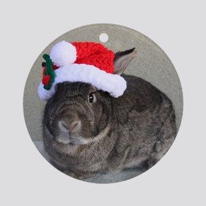 Bunny Christmas Ornament Round Ornament