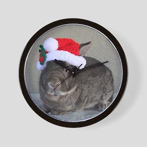 Bunny Christmas Ornament Wall Clock