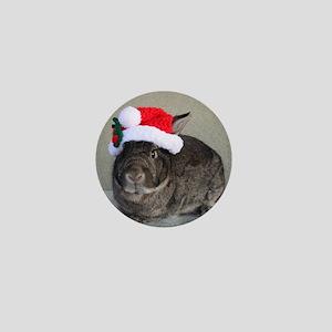Bunny Christmas Ornament Mini Button
