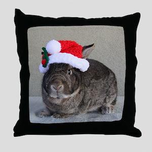 Bunny Christmas Ornament Throw Pillow
