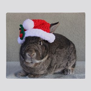 Bunny Christmas Ornament Throw Blanket