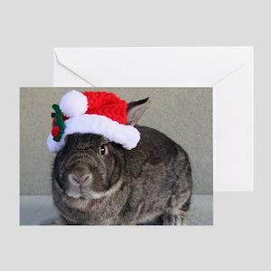Bunny Christmas Ornament Greeting Card