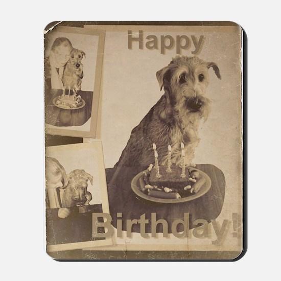 Happy Birthday Irish Terrier 01 Mousepad
