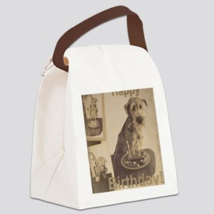 Happy Birthday Irish Terrier 01 Canvas Lunch Bag