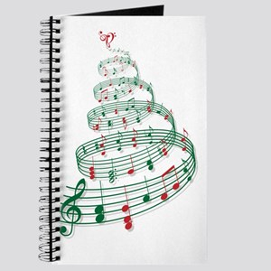 Christmas tree with music notes and heart Journal