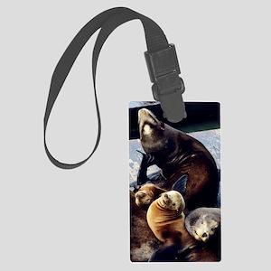 California sea lions Large Luggage Tag