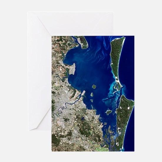 Brisbane, Australia, satellite image Greeting Card