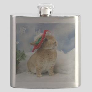 Bunny Christmas Ornament Flask