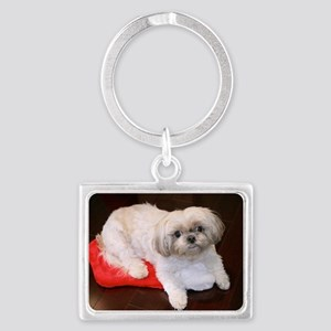 Dog Holiday Ornament Landscape Keychain