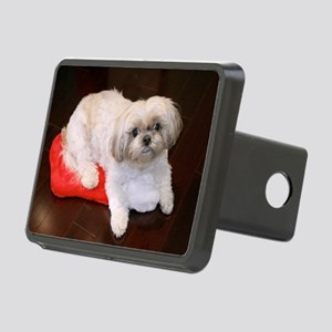 Dog Holiday Ornament Rectangular Hitch Cover