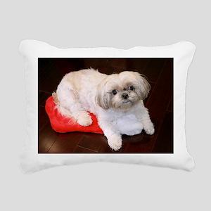 Dog Holiday Ornament Rectangular Canvas Pillow