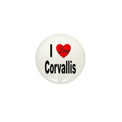 I Love Corvallis Mini Button (10 pack)