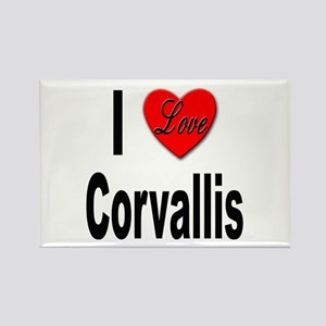 I Love Corvallis Rectangle Magnet