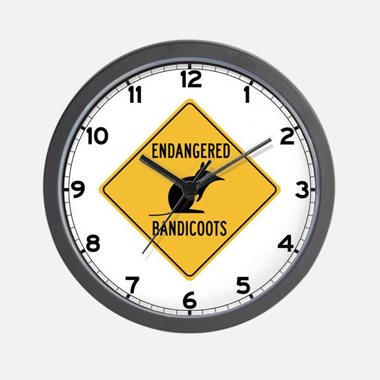 Endangered Bandicoots, Australia Wall Clock