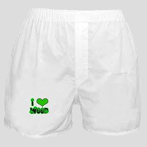 I heart weed Boxer Shorts