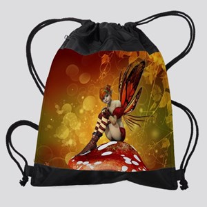 Autumn Fairy Drawstring Bag
