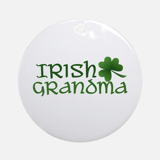 irish grandma  Ornament (Round)