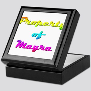 Property Of Mayra Female Keepsake Box