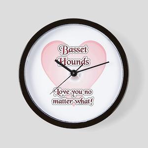 Basset Hound Love U Wall Clock