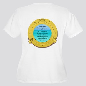 Beauty of the Sea Women's Plus Size V-Neck T-Shirt