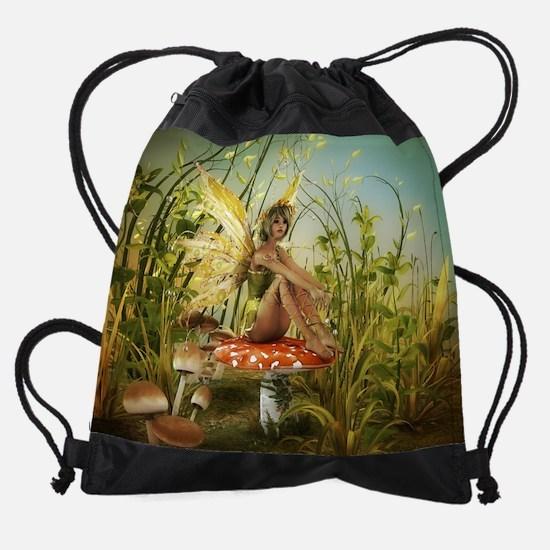 Indian Summer Fairy Drawstring Bag