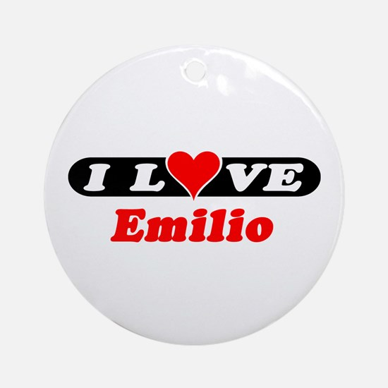I Love Emilio Ornament (Round)