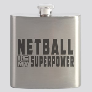 Netball Is My Superpower Flask
