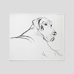 Dogge Caja Throw Blanket