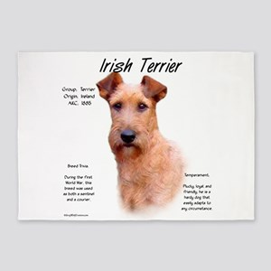 Irish Terrier 5'x7'Area Rug
