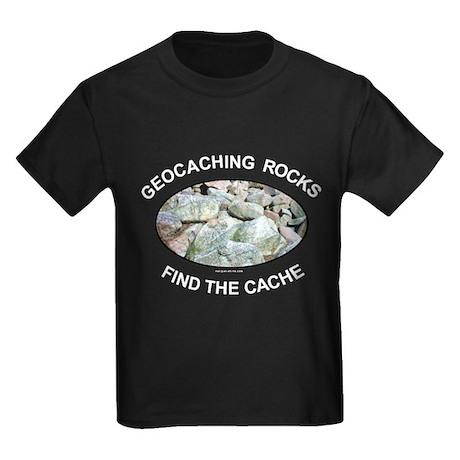 Geocaching Rocks Kids Dark T-Shirt
