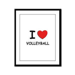 I love volleyball  Framed Panel Print