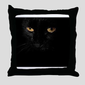 laptop_Le Chat Noir Throw Pillow