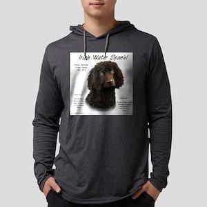Irish Water Spaniel Mens Hooded Shirt