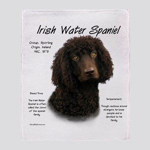 Irish Water Spaniel Throw Blanket